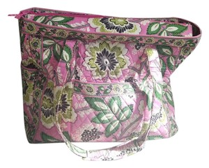 Vera Bradley Tote Weekend Travel Pink Paisley Travel Bag
