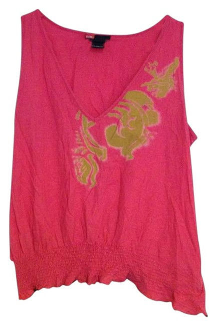 Diesel Top Pink with gold design and black trim on the bottom