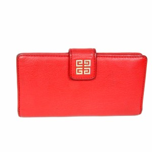 Givenchy Givenchy Soft Long Wallet With Gold Monogram Bi Fold