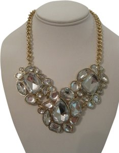 Charter Club CHARTER CLUB FACETED CLEAR CRYSTAL GEM STATEMENT GOLD TONE NECKLACE