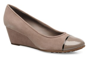 Geox Casual Wedge Taupe Suede Wedges