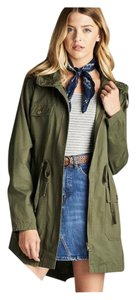 Plus Curvy Xl Anorak Hooded Military Jacket
