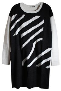 Tibi short dress Black and White Sweater Zebra on Tradesy