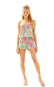 Lilly Pulitzer Deanna Pool Blue Any Fins Possible Dress