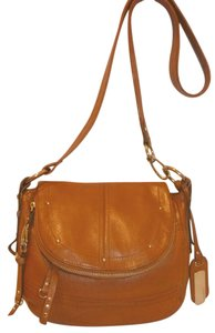 B. Makowsky Refurbished Spicy Mustard Cross Body Bag