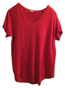 Eileen Fisher Lightweight Coral Sweater