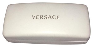 Versace White Leather Sunglass Case