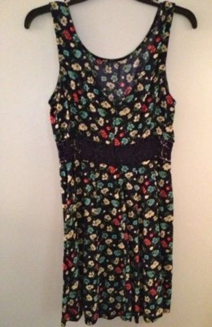 Forever 21 short dress Navy Floral Lace Cut-out on Tradesy