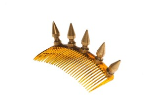 E.Kammeyer Accessories Gold Spike Hair Comb- Hair Accessory