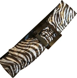 Betsey Johnson Betsey Johnson Zebra Print Belt