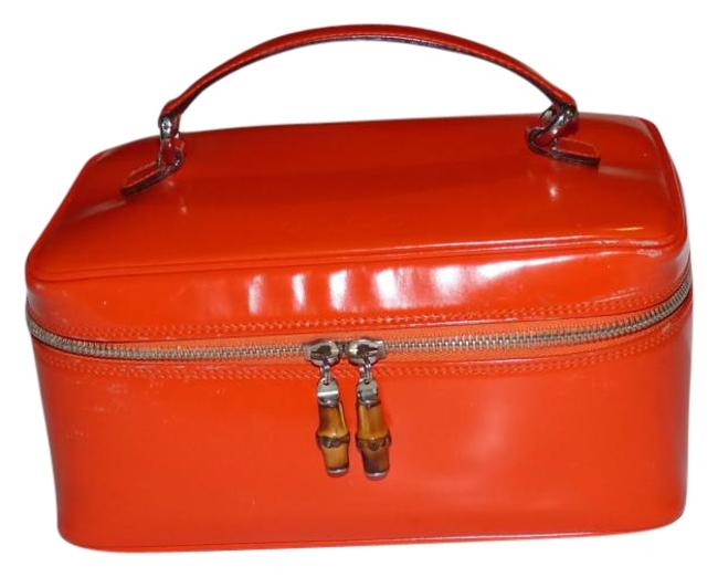 Item - Vintage Bags/Designer Purses Reddish Orange Glossy Leather Satchel