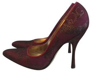 Dolce&Gabbana Maroon metallic Pumps