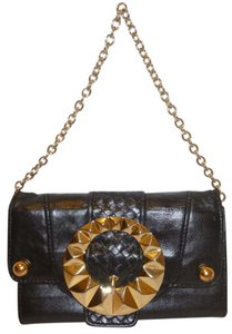 Betsey Johnson Refurbished Leather Clutch Wallet Shoulder Bag