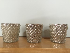 Pottery Barn Mercury Glass/Silver 15 Like New Votive/Candle