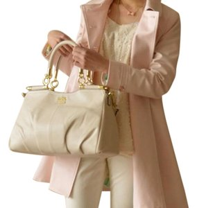 Coach Parchment Satchel in Bone, Ivory, Cream, Off White