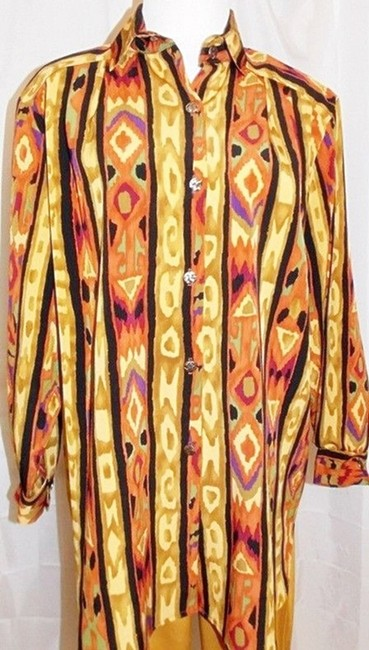 Maggie Sweet Maggie Sweet Pant Suit Three Piece Button Front Tunic Top 2 Pants Image 2