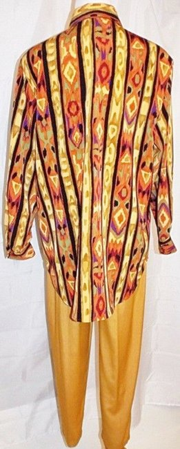 Maggie Sweet Maggie Sweet Pant Suit Three Piece Button Front Tunic Top 2 Pants Image 3
