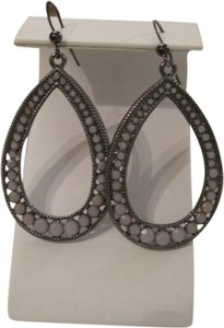 INC International Concepts INC INTERNATIONAL CONCEPTS LAVENDAR CRYSTAL ANTIQUED SILVER TEARDROP EARRINGS