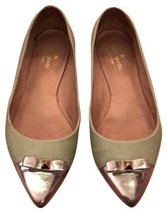 Kate Spade Mint Green and Silver Flats