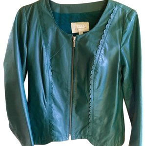 Hinge Sea Green Leather Jacket