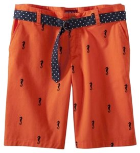 Merona Seahorses Viceroy Orange Bermuda Shorts Orange/black