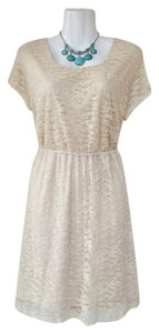 No Boundaries short dress cream Lace Skater on Tradesy