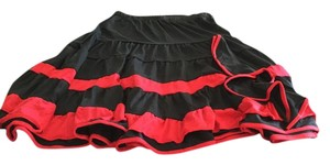 Salsa Dance Skirt Black and red