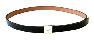 Louis Vuitton Louis Vuitton Ceinture Carre Skinny Black Belt