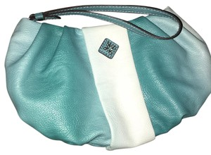 Vera Wang Wristlet in teal and white ombre