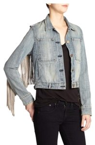McGuire Denim New Dawn (Denim and Taupe/Gray) Womens Jean Jacket