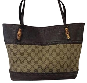 Gucci Luxury Laidback Crafty Canvas Tote in Brown