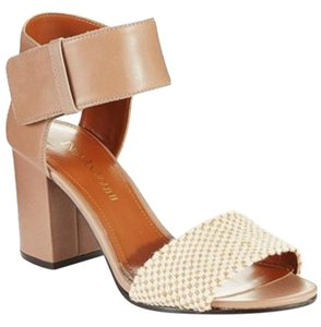 Enzo Angiolini Sandal Heel Leather Beige Sandals