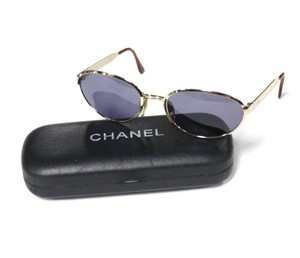 Chanel Gold Metal Framed Sunglasses VINTAGE