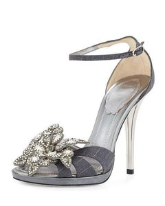 Rene Caovilla Grey Silver Sandals