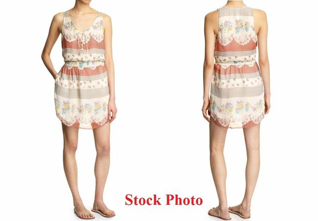 Free People short dress multi Georgette Chiffon 10 Short Mini Pailsey 8 Ivory Brown Red M Sleeeveless Boho New Sheer Gray on Tradesy Image 2