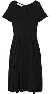 Marni Sheer Pleated Crepe Dress