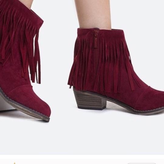 Natural breeze Wine Boots Image 1
