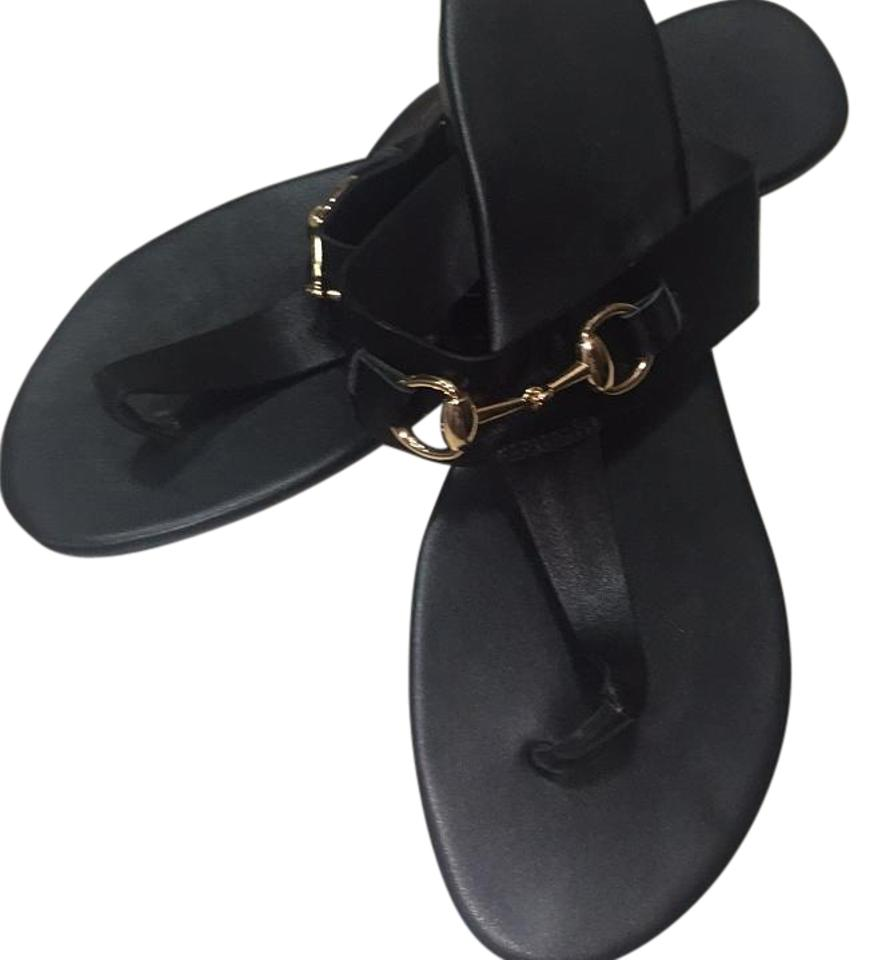 Black Gold and Gold Black Winter Cruise Resort Sandals a32155