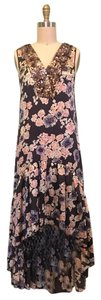 Gryphon Fish Tail Sequin Silk Floral 20's Dress
