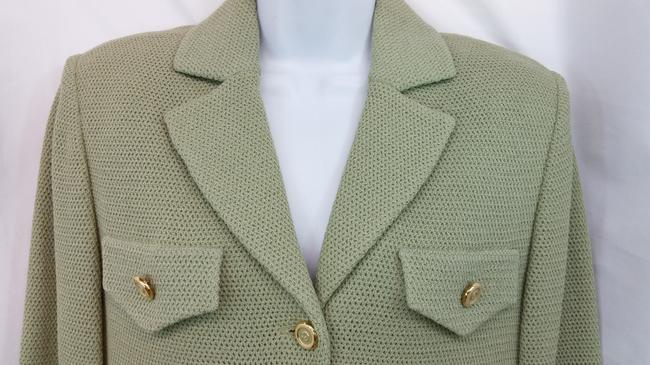 St. John NWT ST. JOHN COLLECTION SAGE GREEN KNIT SKIRT SUIT 6 Image 2