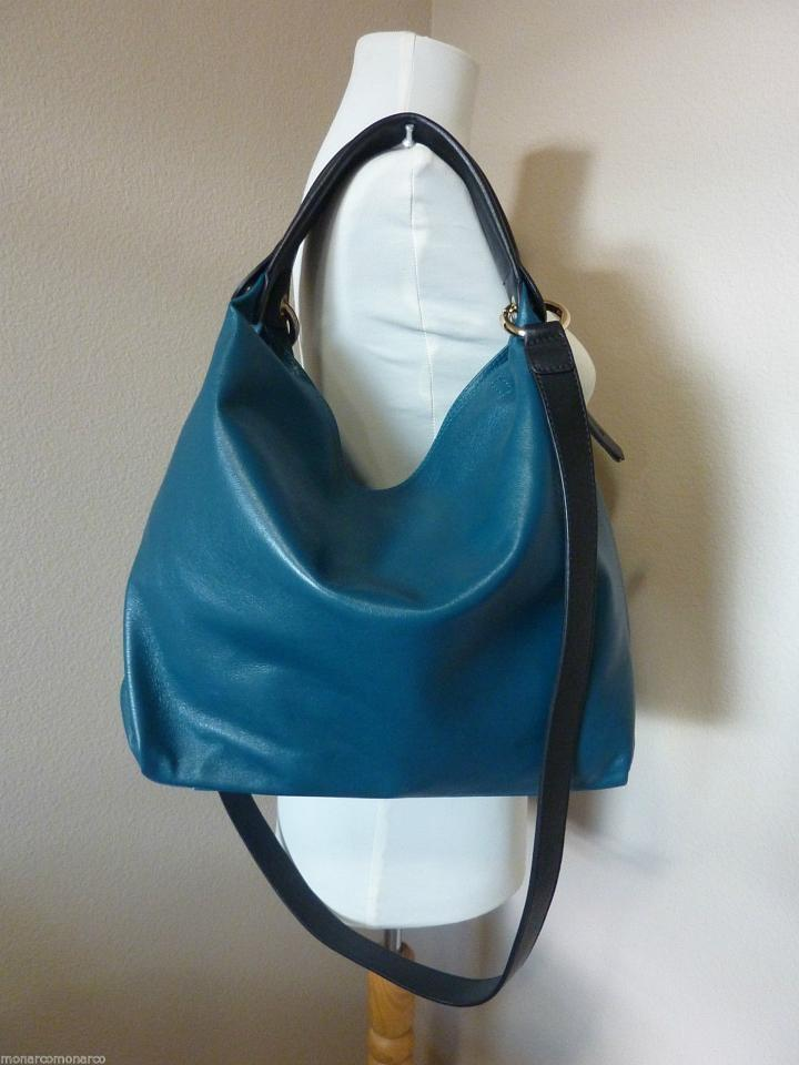 Furla Peacock Elisabeth Zipper Blue Green Leather Hobo Bag - Tradesy 2319cdaaaec8