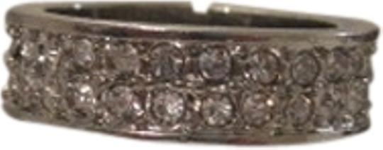 Charter Club CHARTER CLUB DOUBLE ROW CZ CRYSTAL SILVERTONE RING SIZE 8