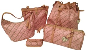 Dooney & Bourke Crosswords Set Buckets Tote in Pink