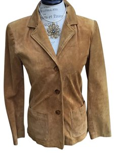 Ann Taylor Camel Leather Jacket