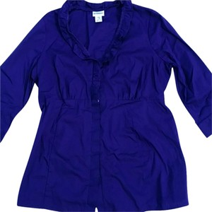 Motherhood Maternity Motherhood Maternity Purple Blouse