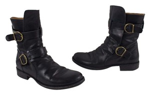Fiorentini + Baker Italy Engineer Buckle Black Boots