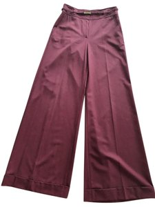 Ellen Tracy Wide Leg Pants Burgundy