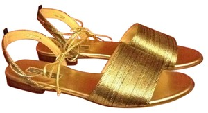 SJP by Sarah Jessica Parker Leather Sole Metallic gold Sandals