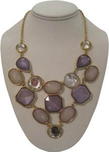 INC International Concepts INC INTERNATIONAL CONCEPTS GOLD TONE LAVENDER BIB STATEMENT NECKLACE