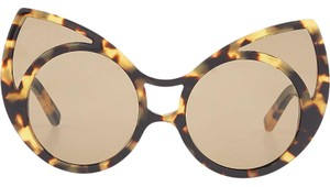 Linda Farrow Luxe Pointy Cat Eye Sunglasses